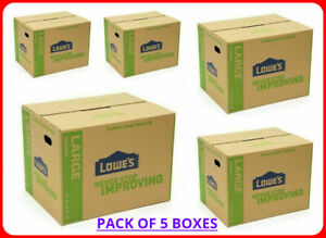 5 pack Large Cardboard Boxes 24 X 18 Storage Moving Shipping Packing Supplies