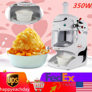 350w Commercial Electric Ice Snow Crusher Shaver Machine Snow Cone Maker 110v