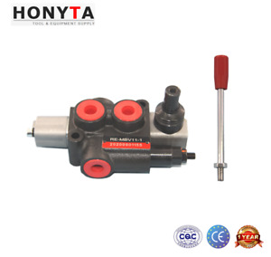 11gpm 1 Spool Sae8 Hydraulic Control Valve Double Acting Spring Return New