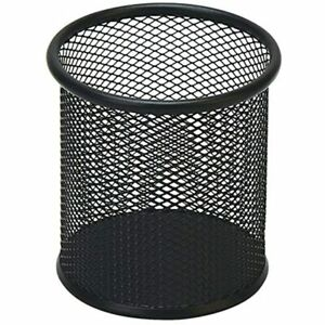 Black Pen Holder Cup Desk Pencil Holder Wire Mesh Office Organizer Products