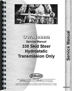 Omc Owatonna 330 Skid Steer Loader Hydrostatic Transmission Only Service Manual