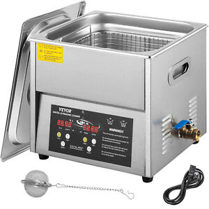 Vevor Digital Ultrasonic Cleaner Ultrasonic Cleaning Machine 6l Stainless Steel