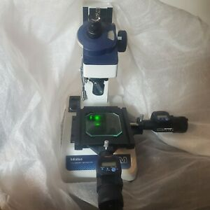 Mitutoyo Toolmakers Microscope 176 820a And Extra Mitutoyo 517181 Halogen Lamp