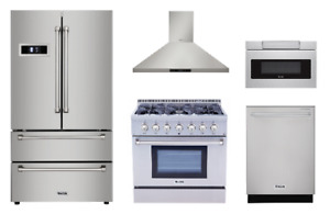 Thor Appliance Package With 36 Gas Range 24 Sharp Microwave Drawer
