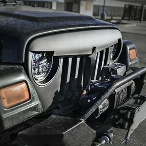 Front Bumper Grille Grill Angry Bird For 2007 2018 Jeep Wrangler Jk Rubicon Saha