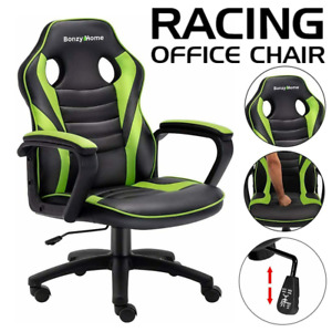 Racing Gaming Chair Executive Office Computer Desk Chair Swivel Adjustable High