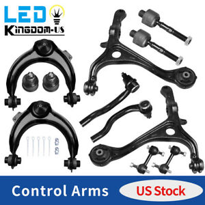 12pc Lower Upper Control Arms Tie Rods Suspension Kit For 2003 2007 Honda Accord