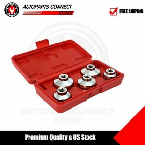 5 Pc Oil Filter Socket Set 3 8 Drive 24 27 32 36 38mm 6pt Remover Wrench
