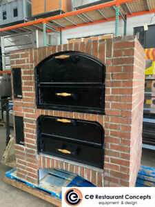 Used Marsal Mb 42 2 62 5 Brick Lined Pizza Oven Gas Stacked