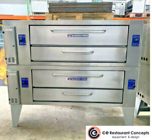 Used Bakers Pride Y 602 Double Pizza Deck Oven Gas