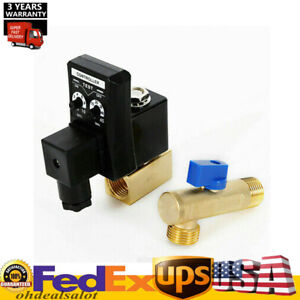 Auto Timed Electronic Drain Valve For Air Compressor Water Tank 1 2 Hotsale
