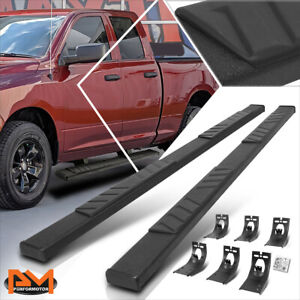 For 09 20 Dodge Ram 1500 3500 Ext Cab 5 Step Pad Nerf Bar Running Boards Black