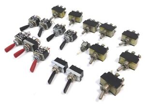 Used Lot Of 18 Toggle Switches