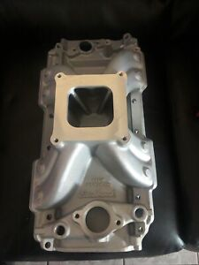 Edelbrock Intake Manifold 2904 Victor Jr Oval Port Satin Aluminum For Bbc