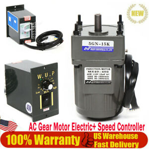 Electric Gear Motor variable Speed Reduction Controller Ac 110v Torque 3 86nm Us