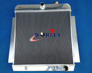 3 Row Aluminum Radiator For 1955 1959 Chevy Pickup Pick Up Truck 56 57 58 At Mt