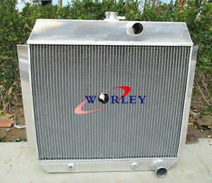 3 Row Aluminum Radiator For 1951 1953 Chevy L6 Bel Air Cars W Cooler 51 52 53