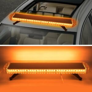 72 Led Amber Strobe Light Bar Emergency Beacon Top Roof Truck Warning Lights 38