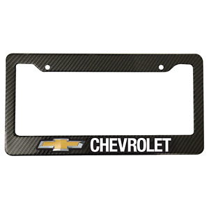 Chevy Chevrolet Carbon Fiber Metal License Plate Frame Car Truck Suv New Us