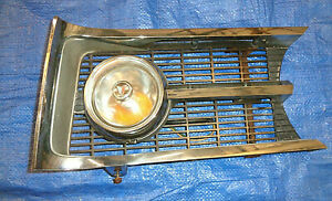 1964 65 Barracuda Left Grille Assembly With Turn Signal Light Clean Chrome Vgc