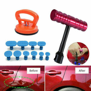 10 Pcs Car Body Slide Hammer Paintless Dent Repair Puller Lifter Removal Kit