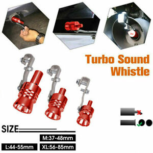 Car Turbo Sound Whistle Muffler Exhaust Pipe Blow Off Valve Simulator M l xl