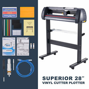 28 Viny Lcutter Plotter Sign Cutting Machine W Software 2 Blades Lcd Screen Us