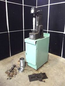 Rockwell Hardness Tester Model 4 Our Weights Cabinet Moves Easily S2571y