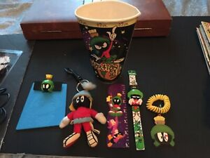 Marvin Martian Lot Watch Keychains Subway Ruler Clipboard Cup B1