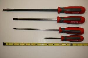 New 4pc Proto England Bulb Handle Phillips And Slotted Screwdriver Set Model Aa