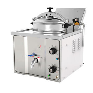 Us Fda 16l Stainless Steel Commercial Electric Pressure Fryer Chicken Fish 2400w