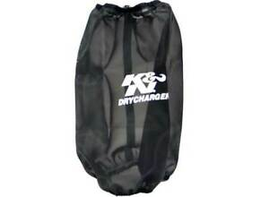 K N Round Tapered Black Drycharger Air Filter Wrap