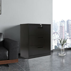 Lateral File Cabinet With 3 Drawers Hanging Lateral Metal Storage Filing Cabinet