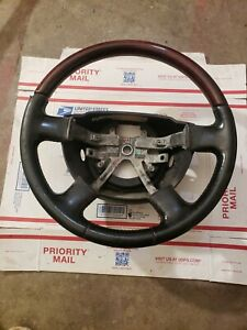 2003 2005 Lincoln Navigator Leather Rose Wood Steering Wheel Oem 03 04 05
