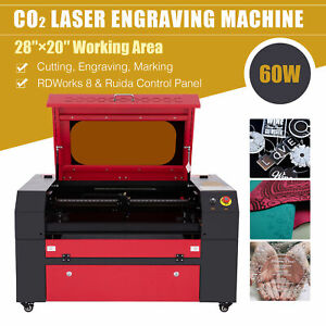 60w Co2 Laser Engraver With 28 x 20 Workbed Ruida Engraving Cutting Machine