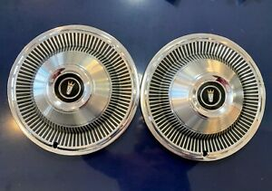 1968 1969 Lot Of 2 Ford Hubcaps 15 Wheel Covers Galaxie 500 Ltd