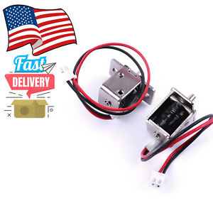 2small Electromagnet Lock Dc12v0 5a Electric Bolt Lock Concealed Electronic Door