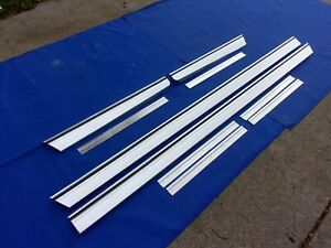 New 1965 Chevrolet Impala Rocker Panel Moldings Qtr Extensions With Clips