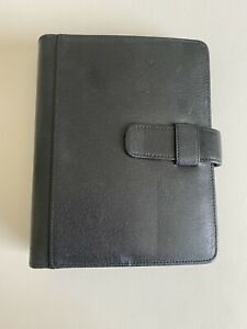 Day Runner Vintage Black Genuine Leather Planner Organizer 8 X 9 5