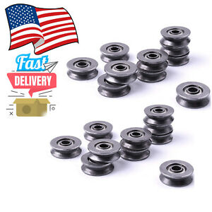 20x Metal Sealed Guide Wire Line Track Deep V Groove Pulley Rail Ball Bearing