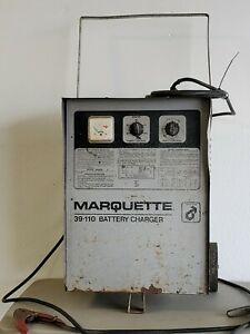 Vintage Marquette 39 110 Service Station Style Battery Charger On Wheels Works