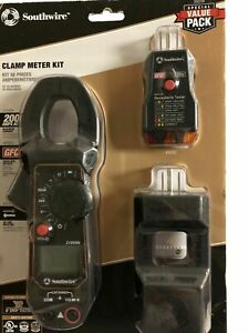 Southwire Tools Equipment 20025k 3 piece Digital 600 v Ac Clamp Meter Kit