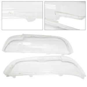 New Pair Front Left Right Headlight Lens Covers Fit 2001 2003 Bmw E39 Facelift
