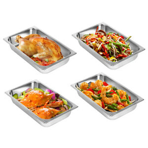 Tainless Steel 4 Deep Steam Table Pan Polished Mirror Non stick Buffet Catering