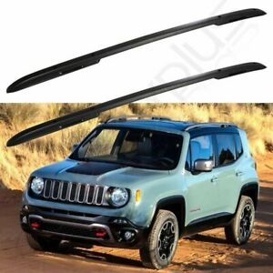 Roof Rack Rails For Jeep Renegade 2015 2019 Black Bar Luggage Baggage Carrier
