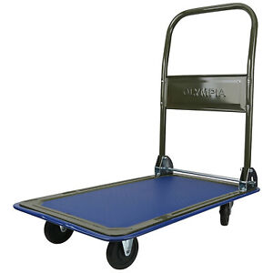 Olympia Tools 85 180 300 Pound Capacity Heavy Duty Folding Utility Rolling Cart