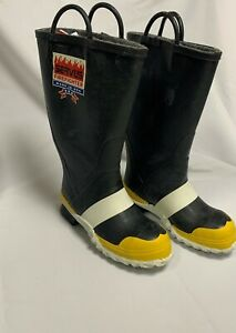 Servus Firefighter Fire Boots Various Sizes New Old Stock Never Worn