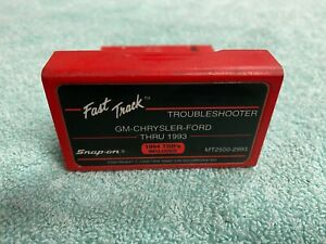 Snap On Tools Fast Track Troubleshooter Cartridge Gm Chrysler Ford Mt2500 2993
