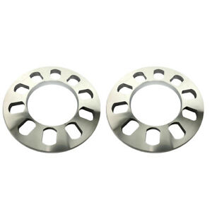2 Pieces Universal Wheel Spacer 5 Hole 12mm Thickness Aluminum Wheel Adapter