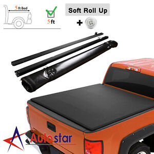 For 2019 2020 Ford Ranger 5ft Truck Bed Soft Roll Up Tonneau Cover